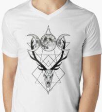 Triple goddess and horned god Men's V-Neck T-Shirt
