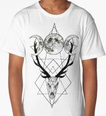 Triple goddess and horned god Long T-Shirt