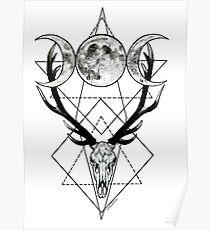Triple goddess and horned god Poster