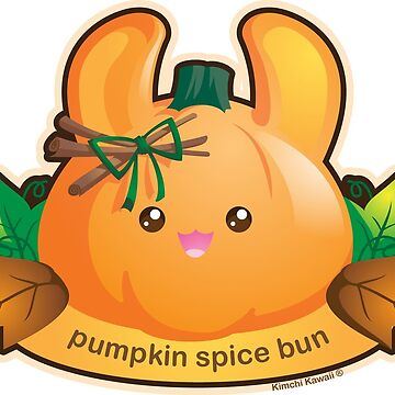 Punny Buns: Cute Pumpkin Spice Bunny by kimchikawaii