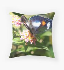Hypolimnas bolina nerina female Throw Pillow
