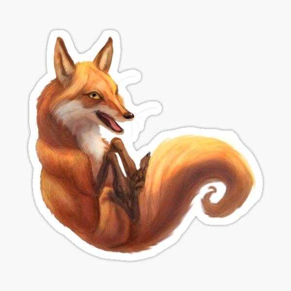 Silly Fox. Sticker