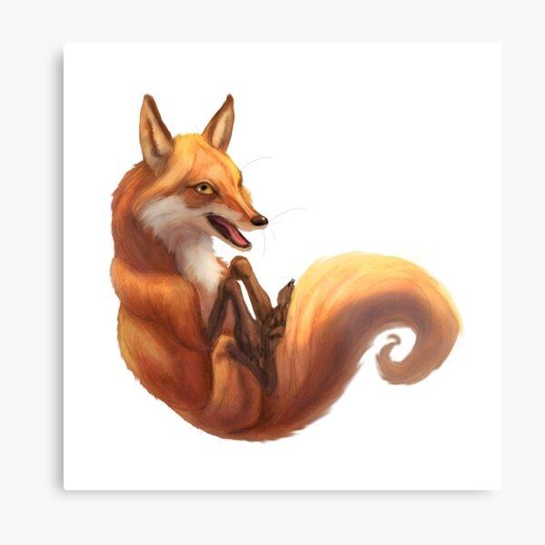 Silly Fox. Metal Print