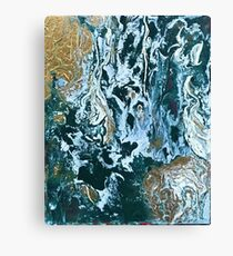Green Abstract Marble Canvas Print