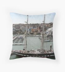Training Ship Throw Pillow