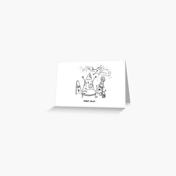 Medium Pizza Greeting Card