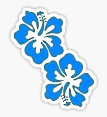 Exotic Hibiscus Flower Design Sticker