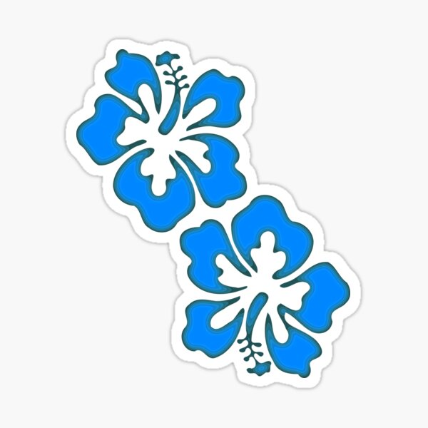 Exotic Hibiscus Flower Design Sticker