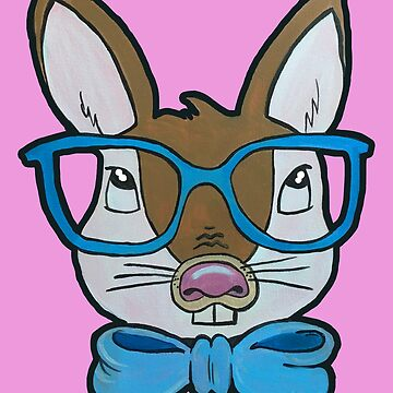 Hipster Bunny | Pop Art Expressions by twistedpainter
