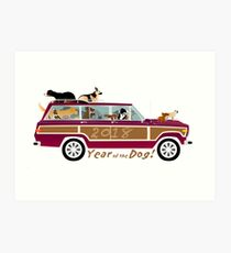 Year of the Dog - Waggies in a Waggy Art Print