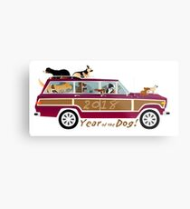 Year of the Dog - Waggies in a Waggy Metal Print