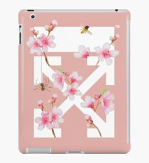 Off-White Cherry Blossom Arrows (Pastel Rose Pink) iPad Case/Skin