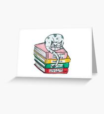 Read and sleep, cat's life Greeting Card