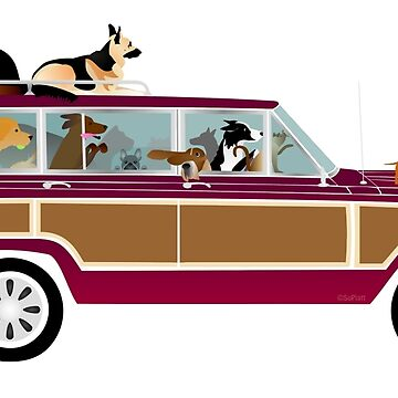 Wags in a Waggy by ArtwithDog