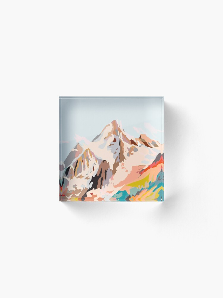 Alternate view of glass mountains Acrylic Block