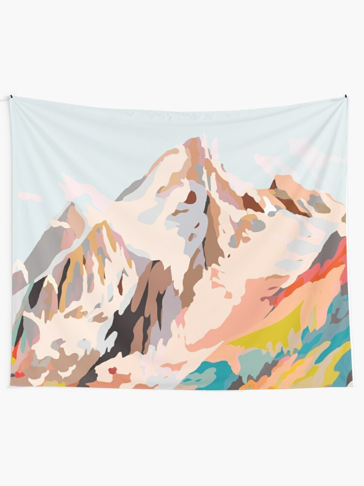 Alternate view of glass mountains Tapestry