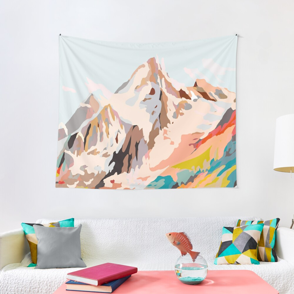 glass mountains Tapestry