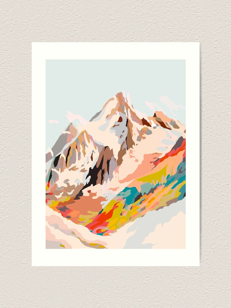 Alternate view of glass mountains Art Print