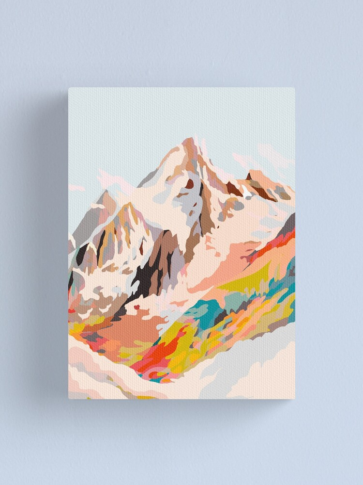 Alternate view of glass mountains Canvas Print