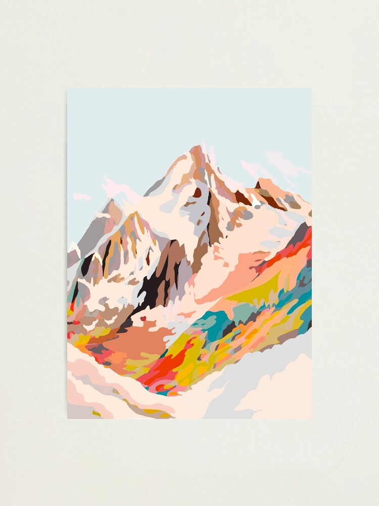 Alternate view of glass mountains Photographic Print