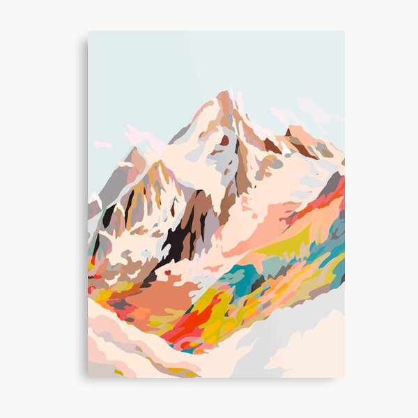glass mountains Metal Print