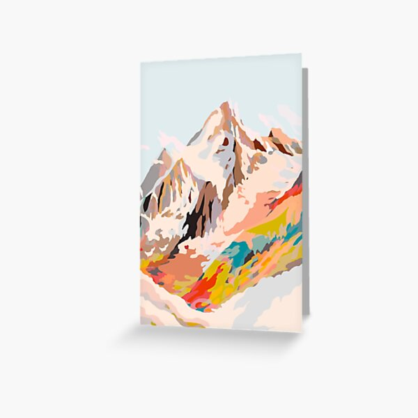glass mountains Greeting Card
