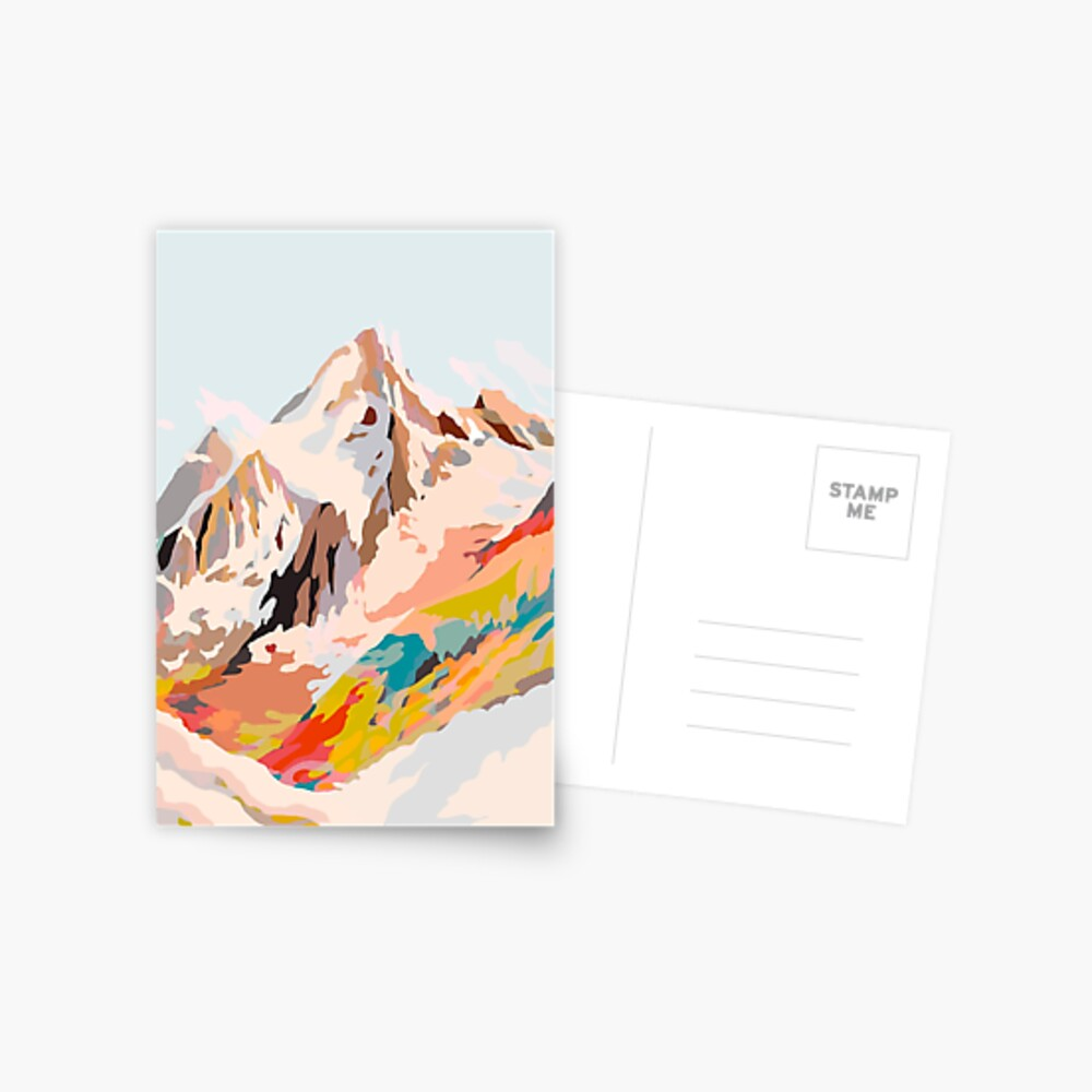 glass mountains Postcard
