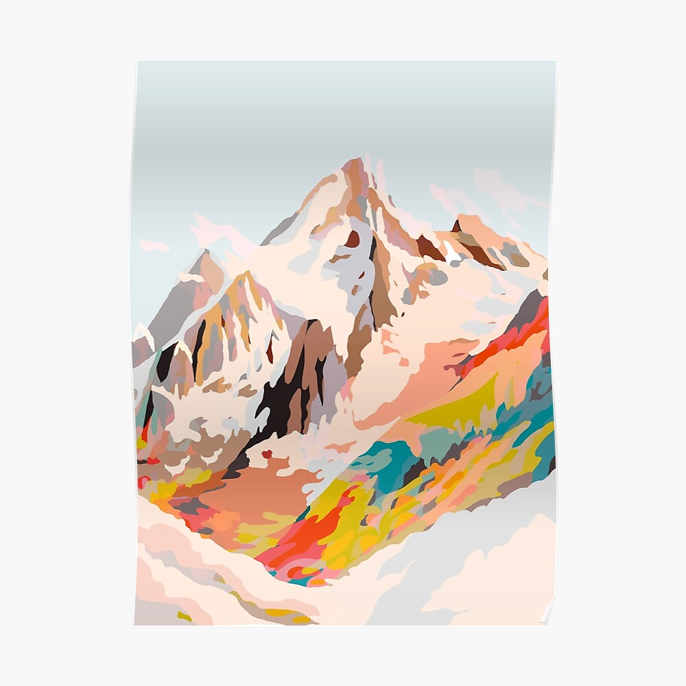 glass mountains Poster
