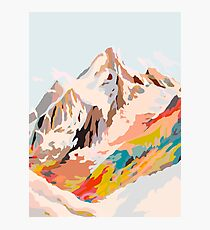 glass mountains Photographic Print