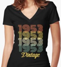 1953 VINTAGE  T-SHIRT Women's Fitted V-Neck T-Shirt