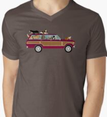 Wags in a Waggy Men's V-Neck T-Shirt