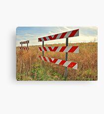 Road Blockage Signs Canvas Print