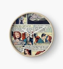 All Love vintage comic panel Clock