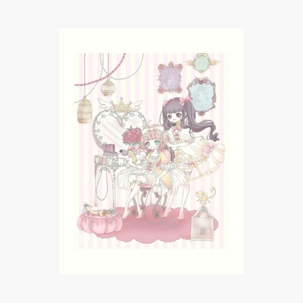 *:The Dressing of a Magical Girl:* Art Print