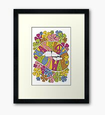 make love not war... Framed Print