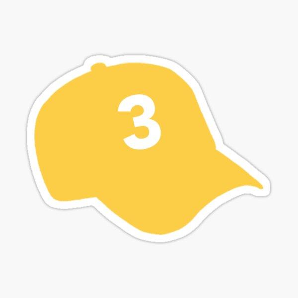 "Chance The Rapper ""3"" Hat Sticker – Yellow Sticker"