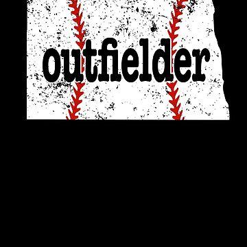 North Dakota Softball Outfielder Baseball Outfielder by shoppzee