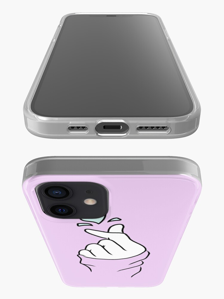Alternate view of Cute Heart~ Pastel Purple iPhone Case & Cover