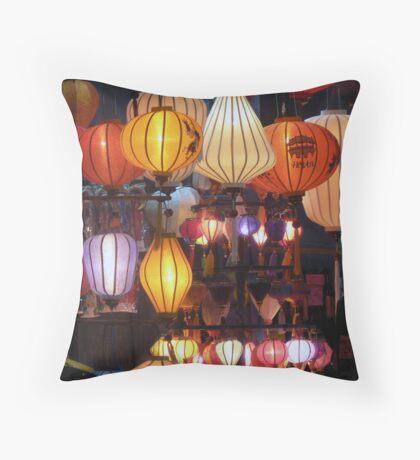 Hoi An lantern shop - window front Throw Pillow