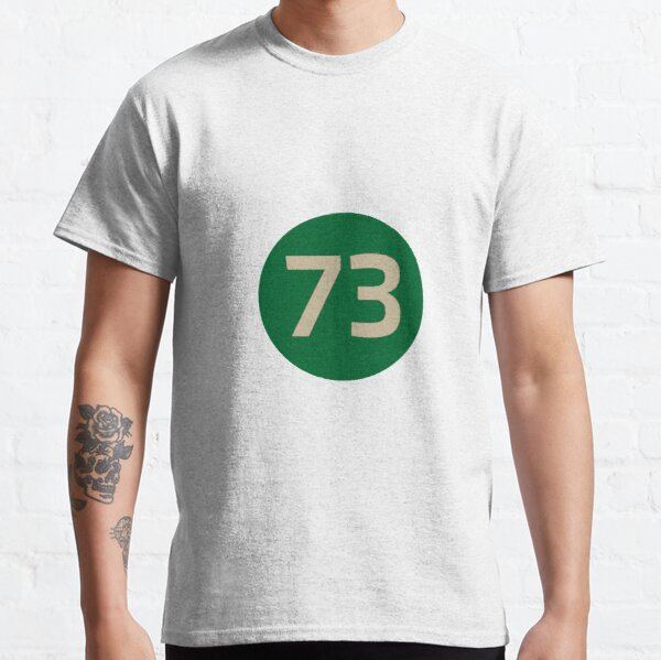 73 The Best Number Big Bang Numbers Puzzle Theory Classic T-Shirt