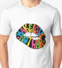 make love not war_black version Unisex T-Shirt