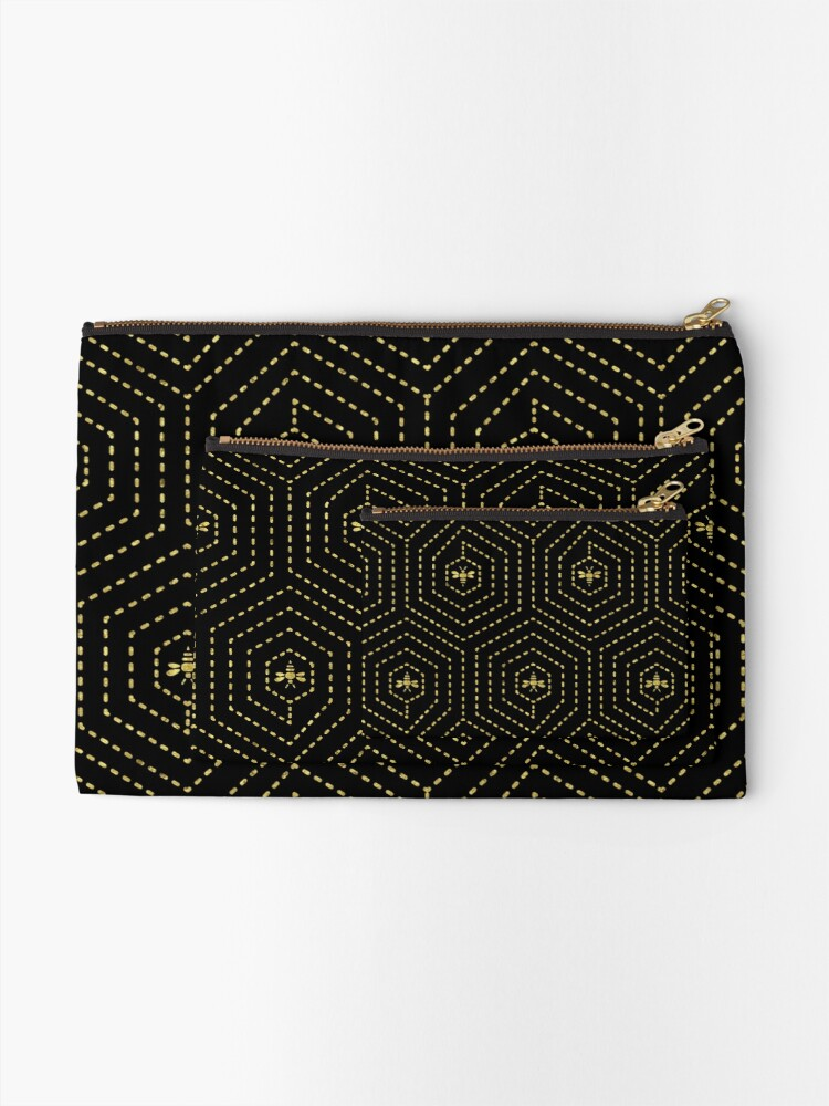 Alternate view of Honeycomb Home Zipper Pouch