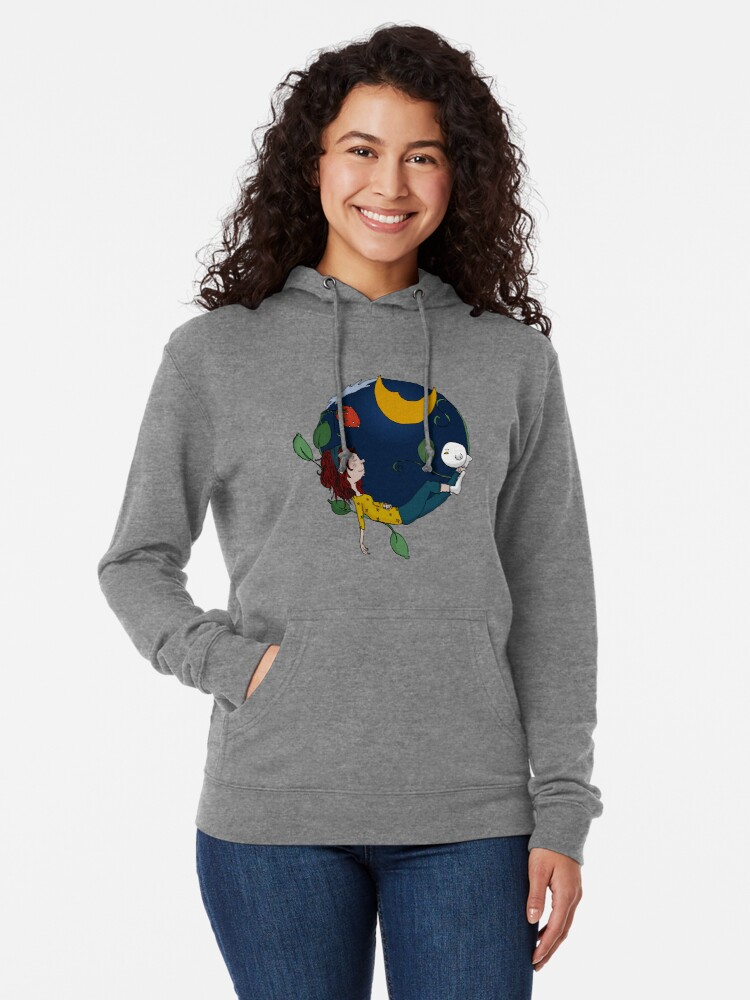 Alternate view of Lux under the moon Lightweight Hoodie