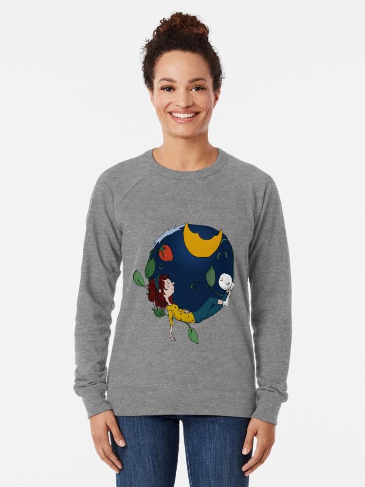 Alternate view of Lux under the moon Lightweight Sweatshirt