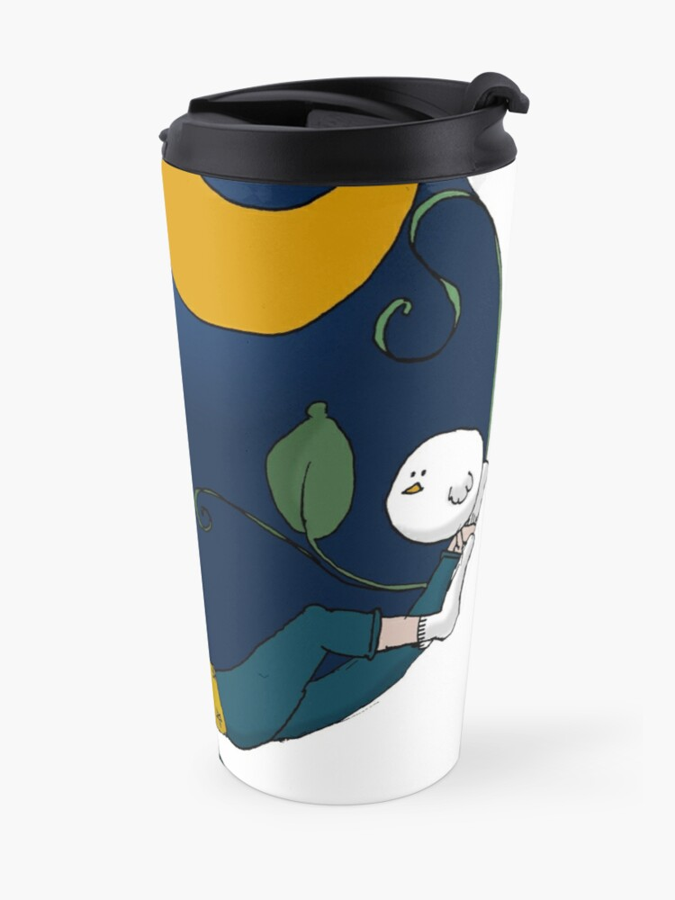 Alternate view of Lux under the moon Travel Mug