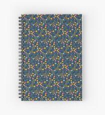 flower, blue Spiral Notebook