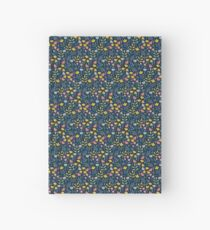 flower, blue Hardcover Journal