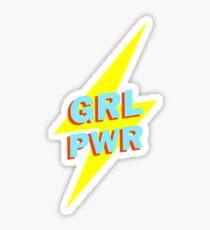 Pegatina GIRL PWR FLASH