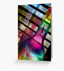 Bent Bottle Dancing Wine © Vicki Ferrari Greeting Card