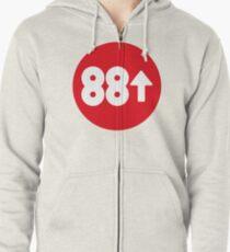 88Rising Circle Logo Zipped Hoodie